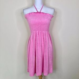 Juicy Couture Pink Terry Cloth Halter Dress